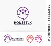 house talk  consulting  home ... | Shutterstock .eps vector #553323592