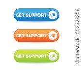 get support buttons   Shutterstock .eps vector #553328356