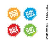 colorful ready stock sticker... | Shutterstock .eps vector #553328362