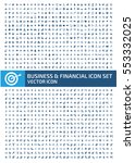 business and finance icon set... | Shutterstock .eps vector #553332025