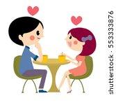 couple love moment for... | Shutterstock .eps vector #553333876
