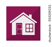 exterior house isolated icon | Shutterstock .eps vector #553339252