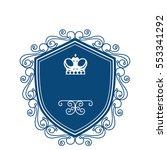 elegant victorian frame icon | Shutterstock .eps vector #553341292