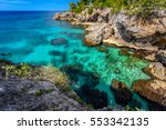beautiful clear turquoise water ... | Shutterstock . vector #553342135