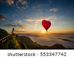 red balloon in the shape of a... | Shutterstock . vector #553347742