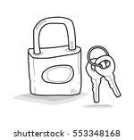 padlock doodle | Shutterstock .eps vector #553348168