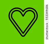 heart icon flat design