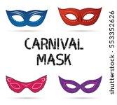mardi gras mask  vector mardi... | Shutterstock .eps vector #553352626