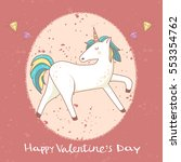 happy valentine's day card.... | Shutterstock .eps vector #553354762