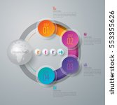infographic design vector and... | Shutterstock .eps vector #553355626