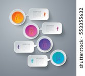 infographic design vector and... | Shutterstock .eps vector #553355632