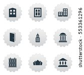 set of 9 simple structure icons.... | Shutterstock .eps vector #553361296