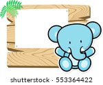 illustration of cute baby... | Shutterstock .eps vector #553364422
