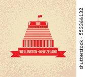 wellington  new zeland   6... | Shutterstock .eps vector #553366132