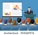businessman in suit and tie... | Shutterstock . vector #553369576
