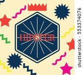 hipster poster design | Shutterstock .eps vector #553374076