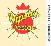 hipster poster design | Shutterstock .eps vector #553374205