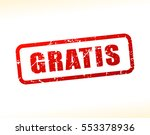 illustration of gratis text... | Shutterstock .eps vector #553378936