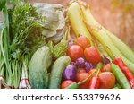 collection fruits and vegetables   Shutterstock . vector #553379626