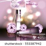 face skincare premium ad design ... | Shutterstock .eps vector #553387942