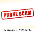 illustration of phone scam text ... | Shutterstock .eps vector #553394296