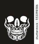 Tribal Tattoo Skull Graphic...