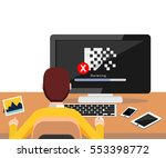 deleting file process on... | Shutterstock .eps vector #553398772