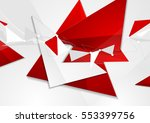 red grey abstract technology... | Shutterstock .eps vector #553399756