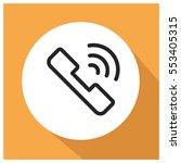 call vector icon   Shutterstock .eps vector #553405315