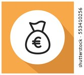 money bag euro vector icon