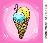 ice cream   vector illustration | Shutterstock .eps vector #553414618