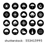 weather icons | Shutterstock .eps vector #553415995