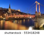 illuminated footbridge saint... | Shutterstock . vector #553418248