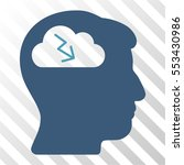 brainstorming vector pictograph.... | Shutterstock .eps vector #553430986