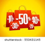 discounts sale banner with red... | Shutterstock .eps vector #553431145