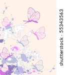 colored abstract floral... | Shutterstock .eps vector #55343563