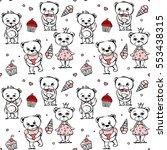 cute bear seamless pattern | Shutterstock .eps vector #553438315