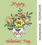 hand drawn greeting card for... | Shutterstock . vector #553441645