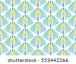 abstract colorful peacock... | Shutterstock .eps vector #553442266