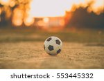 a ball for street soccer... | Shutterstock . vector #553445332