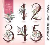 vector illustration of floral... | Shutterstock .eps vector #553449202
