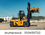 Heavy Forklift Truck In The...