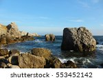 rocky coast of sea | Shutterstock . vector #553452142