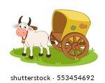 bullock cart | Shutterstock .eps vector #553454692