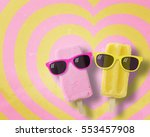 Couple Ice Cream Stick Wearing...