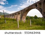old stone viaduct during summer....