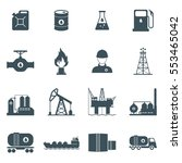 oil and gas industry icon set.... | Shutterstock . vector #553465042
