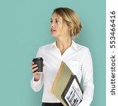 Business Woman Business Folder...