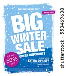 winter sale banner  vector... | Shutterstock .eps vector #553469638