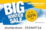 winter sale banner  vector... | Shutterstock .eps vector #553469716